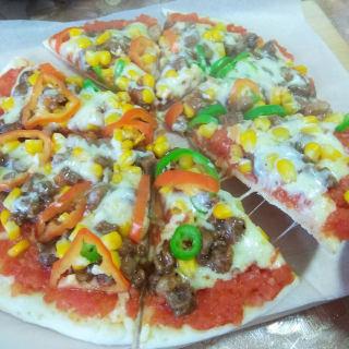 平底锅版牛肉披萨