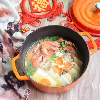 大虾豆腐煲