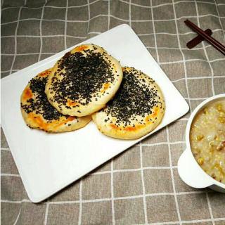 椒盐芝麻酥饼