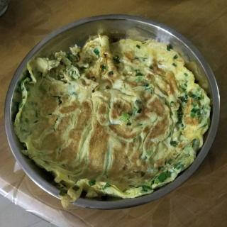鸡蛋美食-韭菜煎蛋
