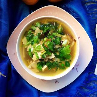 香菇黄花豆干汤
