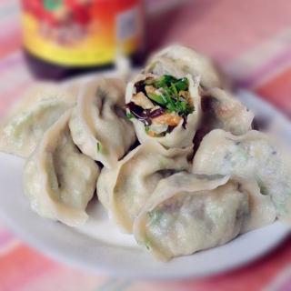 香菜菌菇馅水饺