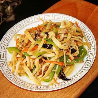 小炒海鲜菇