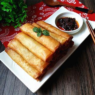 韭黄猪肉春卷