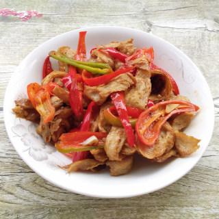 红椒炒面筋