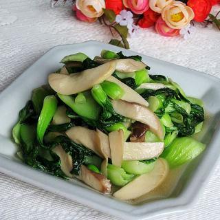 青菜炒杏鲍菇