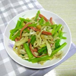 干贝芹菜杏鲍菇