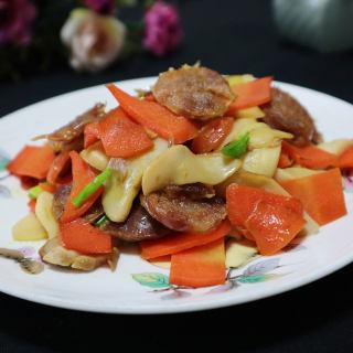 腊肠炒杏鲍菇