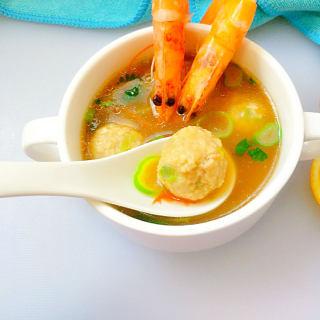 鲜虾肉丸汤