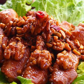 核桃清酒炒鸡翅
