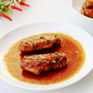 番茄酱焖鸡翅