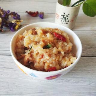 肉丝炒糯米饭