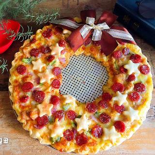 圣诞花环披萨