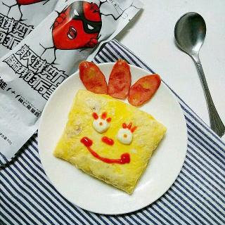 卡通香肠蛋包饭