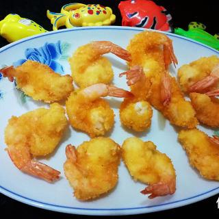 自制零食一一油炸黄金虾