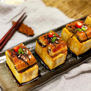 香煎鳗鱼豆腐