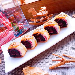 酥皮紫薯卷
