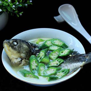秋葵鲫鱼汤