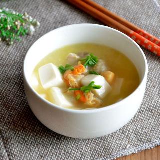 扇贝豆腐汤