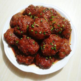 红烧藕肉饼