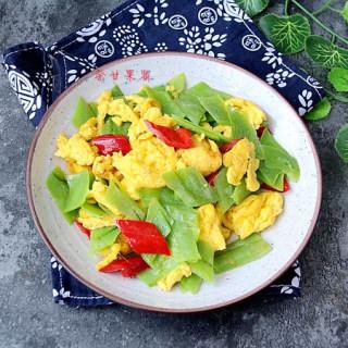 丝瓜皮炒鸡蛋