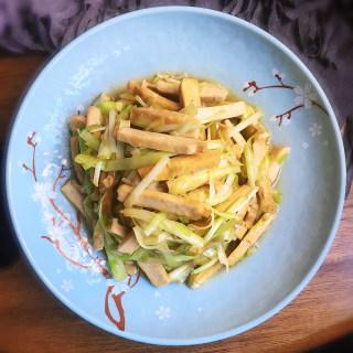 豆干炒韭黄