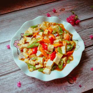 尖椒烧豆腐