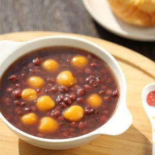 南瓜小汤圆红豆汤