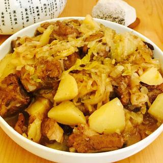 土豆排骨烩酸菜