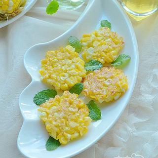 黄金玉米小煎饼