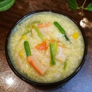 蟹棒青菜粥