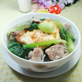 青菜荷叶蛋排骨汤