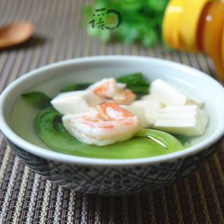 虾仁菜心豆腐羹