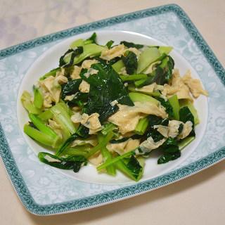 腐皮炒青菜