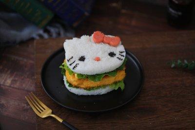 K�B猫米饭鸡排汉堡