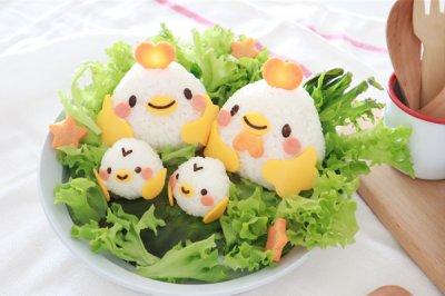 萌萌小鸡一家饭团