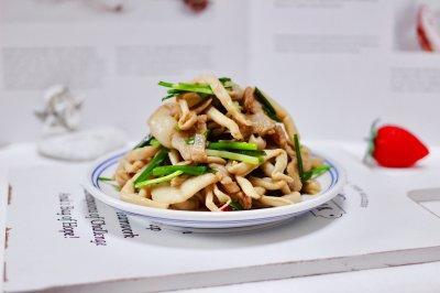 肉片白玉菇小炒
