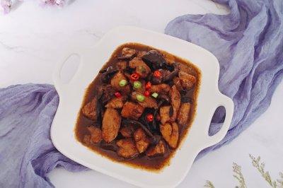 红烧鸡块简易版小鸡炖蘑菇