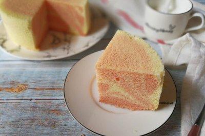 粉色斑马纹戚风蛋糕