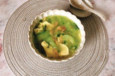 黄瓜虾米蛋汤