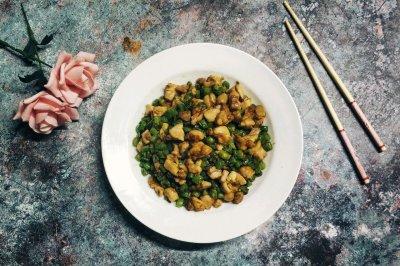 四季豆咖喱鸡丁