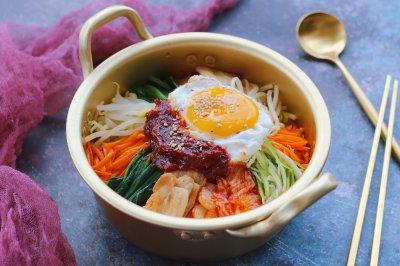 韩式五花肉拌饭
