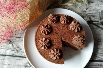 巧克力奶油戚风蛋糕