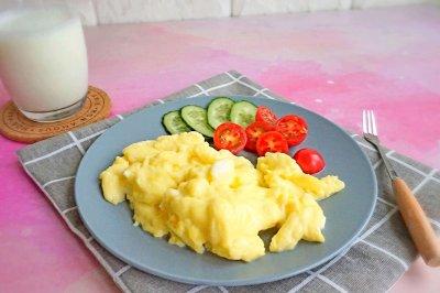 低脂轻食减脂西式牛奶嫩滑蛋