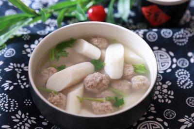 山药肉丸汤