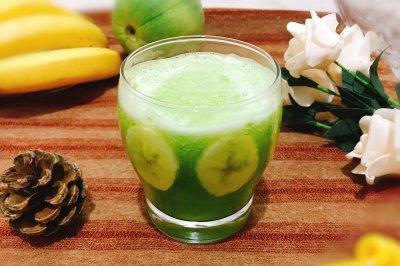 绿宝甜瓜香蕉枫糖奶昔