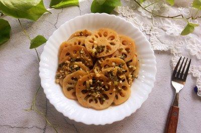 烤蒜香藕片