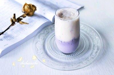 蓝莓香蕉冰奶昔