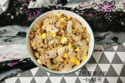 三色藜麦鸡蔬沙拉