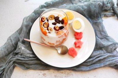 酸奶红薯杯
